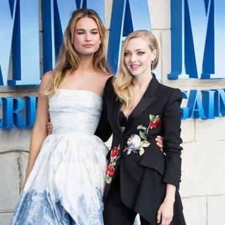 Lily James, Amanda Seyfried in The World Premiere of Mamma Mia! Here We Go Again - Arrivals
