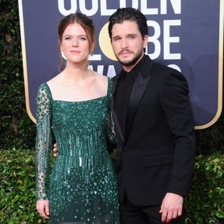 Rose Leslie, Kit Harington in 77th Annual Golden Globes - Arrivals