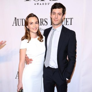 Leighton Meester, Adam Brody in The 68th Annual Tony Awards - Arrivals