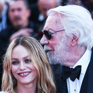 Vanessa Paradis, Donald Sutherland in 69th Cannes Film Festival - The Last Face Premiere - Arrivals