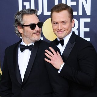 Joaquin Phoenix, Taron Egerton in 77th Annual Golden Globes - Arrivals