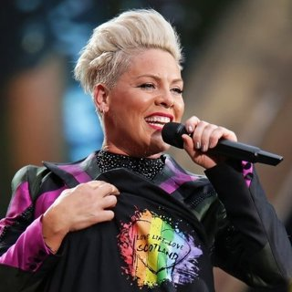 Pink Performing on Her Beautiful Trauma Tour