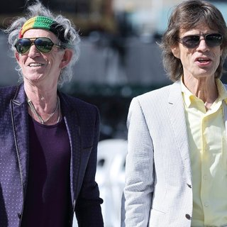 Keith Richards, Mick Jagger, The Rolling Stones in The Rolling Stones Attend A Photocall