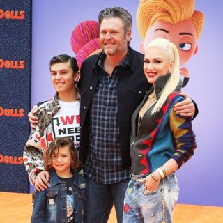Kingston Rossdale, Apollo Rossdale, Blake Shelton, Gwen Stefani in UglyDolls World Premiere