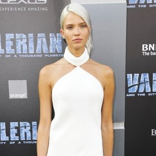 Sasha Luss in Valerian and the City of a Thousand Planets Premiere