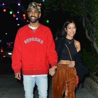 Big Sean, Jhene Aiko in Big Sean at Matsuhisa Restaurant with Jhene Aiko