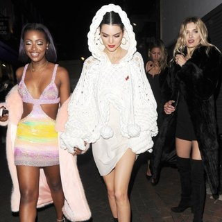 Kendall Jenner Enjoys A Night Out with Justine Skye and Lily Donaldson