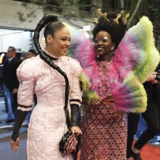 Tessa Thompson, Lupita Nyong'o in The 2019 Met Gala Celebrating Camp: Notes on Fashion