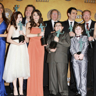 Sofia Vergara, Ariel Winter, Eric Stonestreet, Sarah Hyland, Rico Rodriguez, Ed O'Neill, Ty Burrell, Nolan Gould, Jesse Tyler Ferguson, Julie Bowen in The 17th Annual Screen Actors Guild Awards (SAG Awards 2011) - Press Room