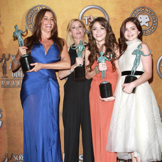 Sofia Vergara, Julie Bowen, Sarah Hyland, Ariel Winter in The 17th Annual Screen Actors Guild Awards (SAG Awards 2011) - Press Room