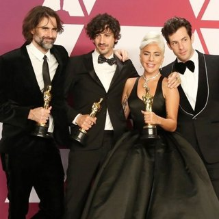 Andrew Wyatt, Anthony Rossomando, Lady GaGa, Mark Ronson in 91st Annual Academy Awards - Press Room