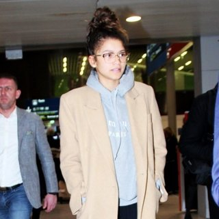 Zendaya on Her Arrival at Charles de Gaulle Airport