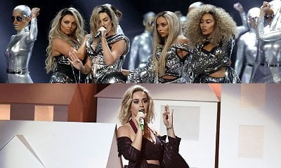 2017 BRIT Awards: Little Mix Is Carried by Thrones, Katy Perry Brings Skeletons During Performances