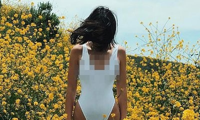 Braless Kendall Jenner Flashes Nipples in One-Piece Swimsuit