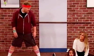 Jennifer Lopez and James Corden Roll, Jump and Split in 'Toddlerography'