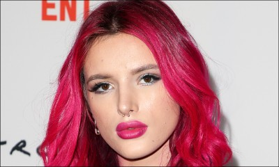 Bella Thorne Flaunts Perky Butt in Skimpy Bikini While Eating Burger
