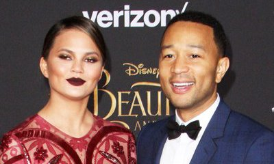 Naked Chrissy Teigen Surprises John Legend With a Cake on Father's Day