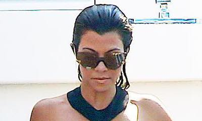 Kourtney Kardashian Shares Cheeky Photo of Her in Bikini With an Ice Cream Between Her Thighs