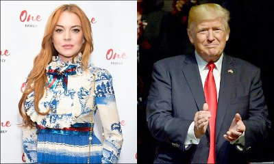 Lindsay Lohan Tells People to 'Stop Bullying' Donald Trump