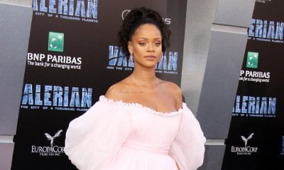 Rihanna's Flowing Pink Dress at 'Valerian' Premiere Gives Bubblegum and Princess-y Vibe