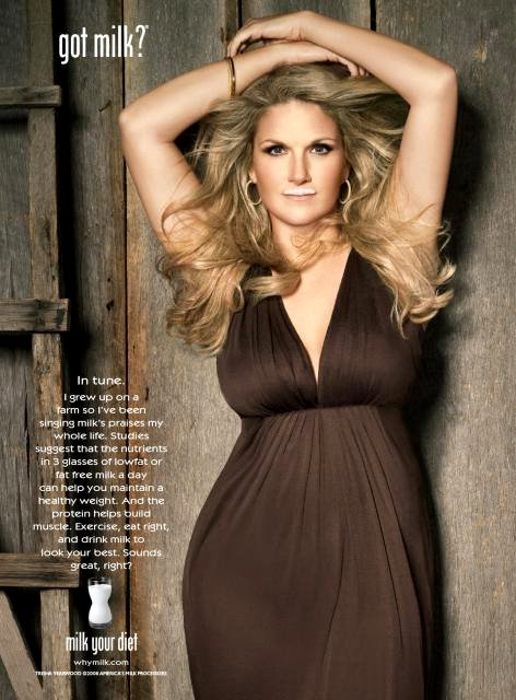 Photo: Country Music Singer Trisha Yearwood in Got Milk? Campaign