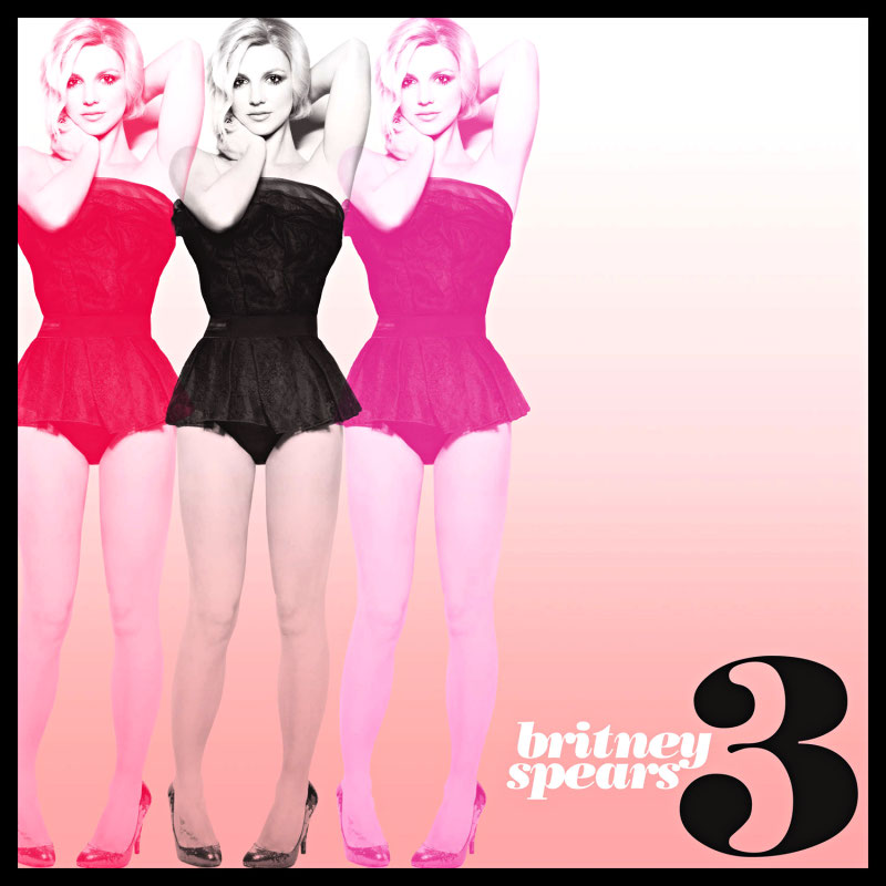 Official Cover Art of Britney Spears' '3'