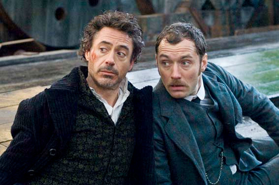 Jude Law Saves Robert Downey Jr. in New 'Sherlock Holmes' Clip