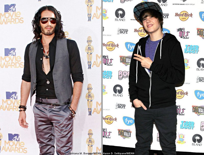 Russell Brand and Justin Bieber Are 'Worst Dressed Men in Showbiz'