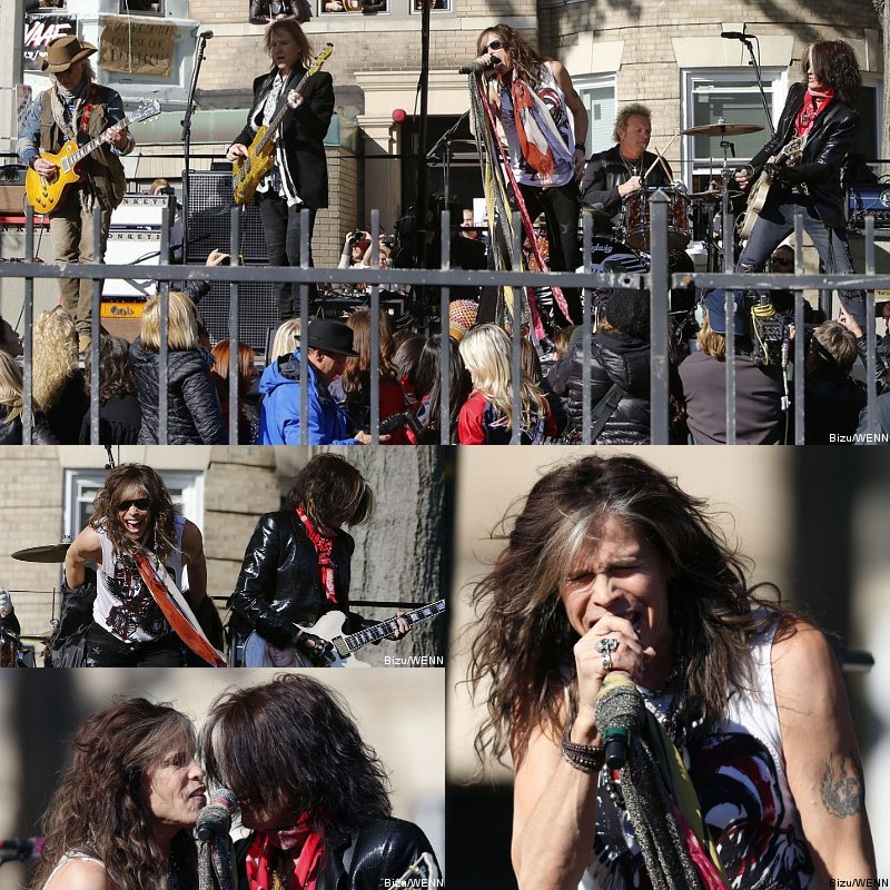 Aerosmith Play Free Concert in Front of Old Boston Apartment