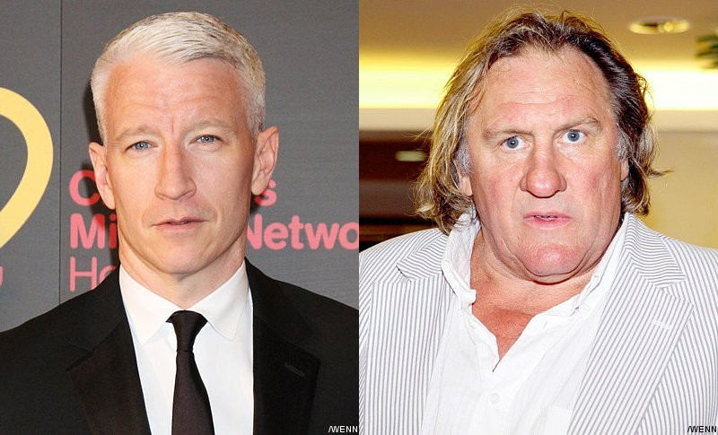 Video: Anderson Cooper Couldn't Stop Giggling Over Gerard Depardieu's Incident