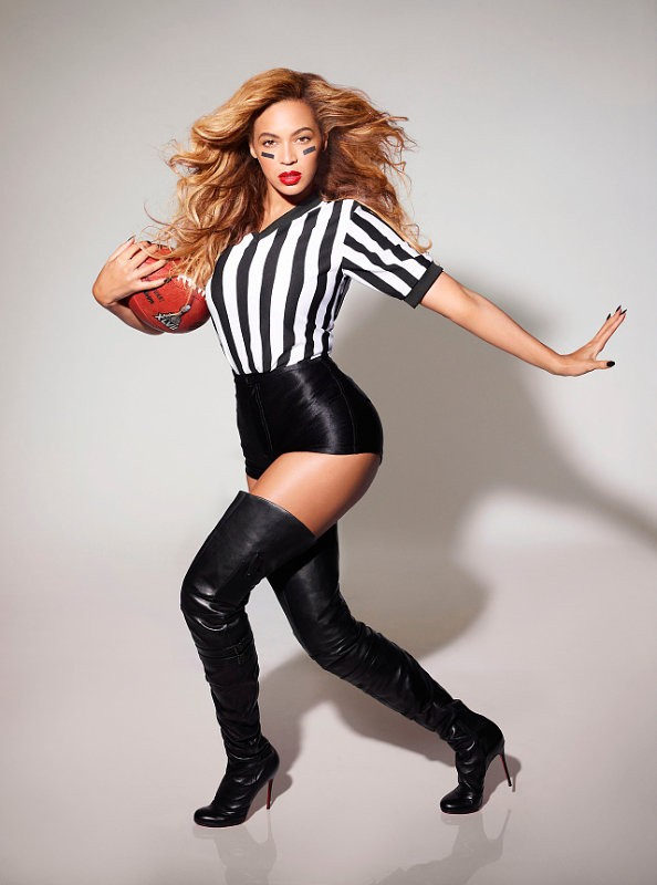 Beyonce Dresses Up as a Sexy Referee in Super Bowl Promo Pic