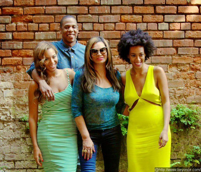 Beyonce, Jay-Z and Solange Pose for Family Photo After Elevator Fight
