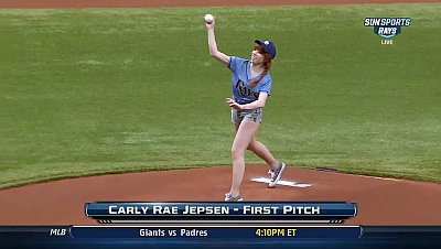 Carly Rae Jepsen Laughs Off Her Awful First Pitch at Baseball Game