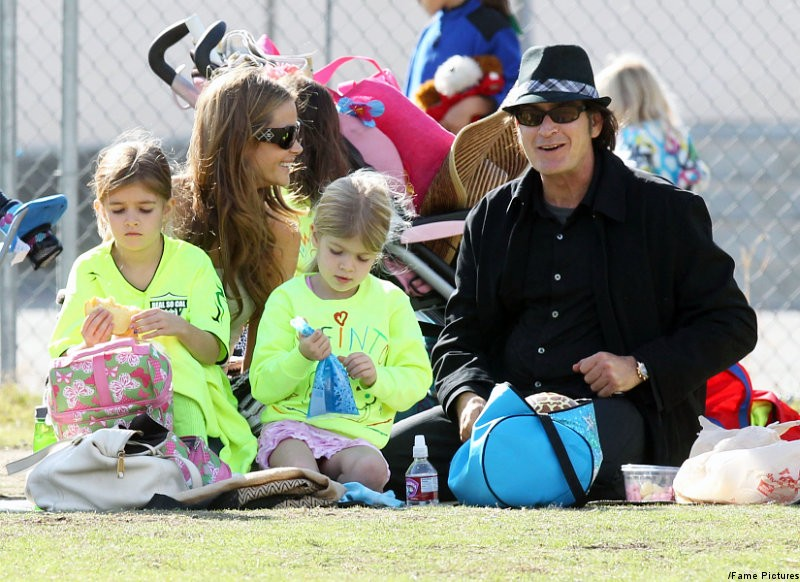 Charlie Sheen Shares Smiles With Denise Richards at Daughter's Soccer Game
