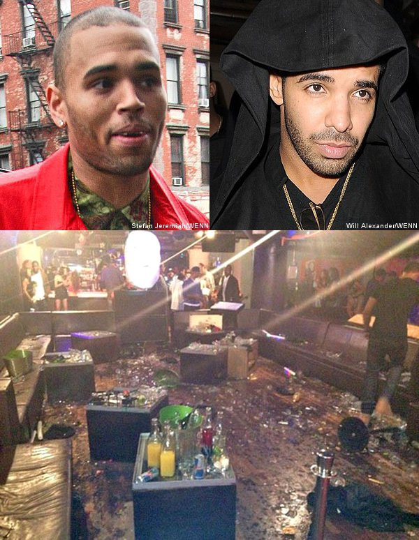 Chris Brown Claims He's a Victim, Drake Denies Involvement in Bar Fight