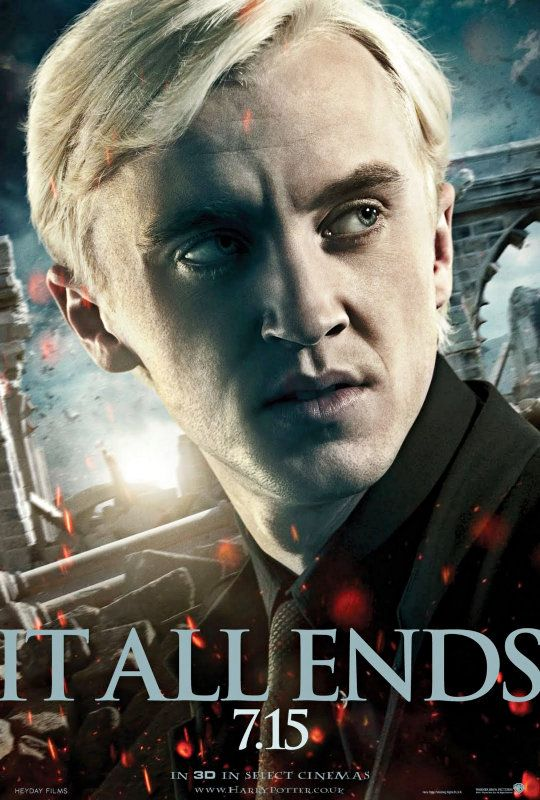 Draco Malfoy Looks Wary in New 'Deathly Hallows 2' Poster