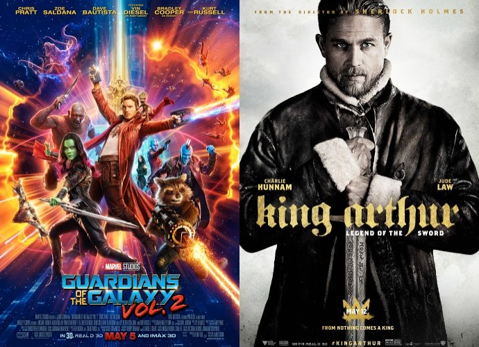 'GOTG Vol. 2' Remains at No. 1 at Box Office, 'King Arthur: Legend of the Sword' Flops