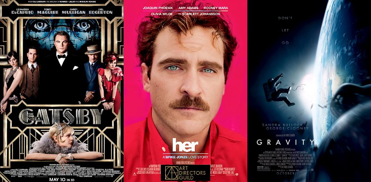 'Great Gatsby', 'Her' and 'Gravity' Win Art Directors Guild Awards