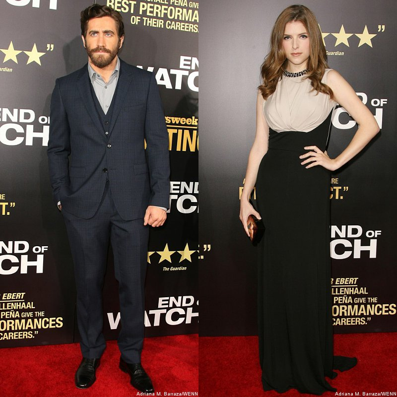 Jake Gyllenhaal and Anna Kendrick Keep It Classy at 'End of Watch' L.A. Premiere