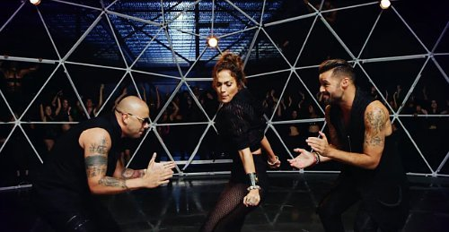 Jennifer Lopez Makes Out With Ricky Martin in Wisin's 'Adrenalina' Music Video