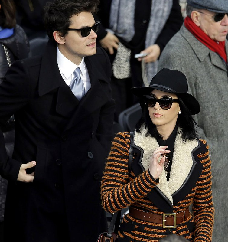 John Mayer and Katy Perry Among Celebrities at Presidential Inauguration