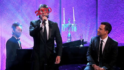 Video: Josh Groban Sings 'Special Song' to Salute Jimmy Kimmel on 2000th Episode