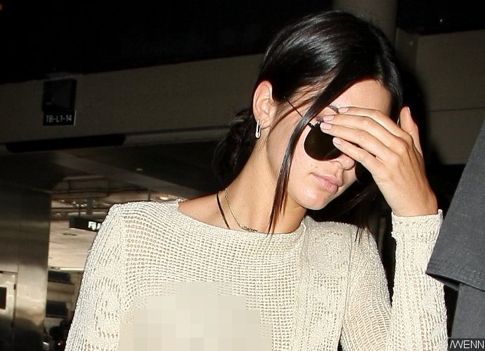 Kendall Jenner Flashes Nipple and Panties in See-Through Ensemble When Arriving at LAX