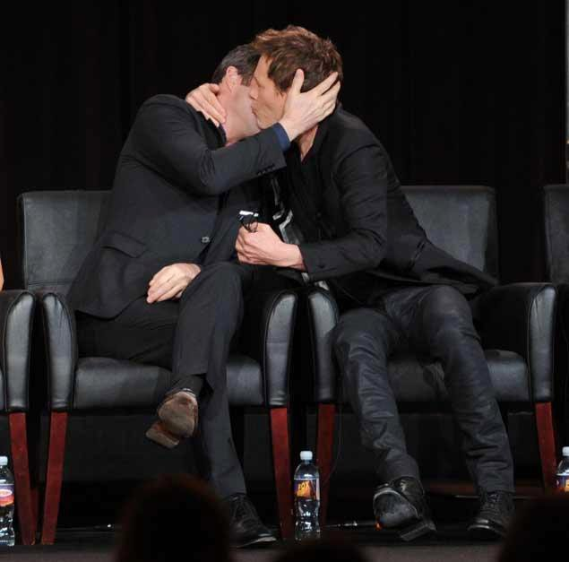 Kevin Bacon and James Purefoy Kiss During 'The Following' Presscon