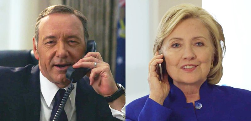 Video: Kevin Spacey's 'House of Cards' Character Frank Underwood Prank Calls Hillary Clinton