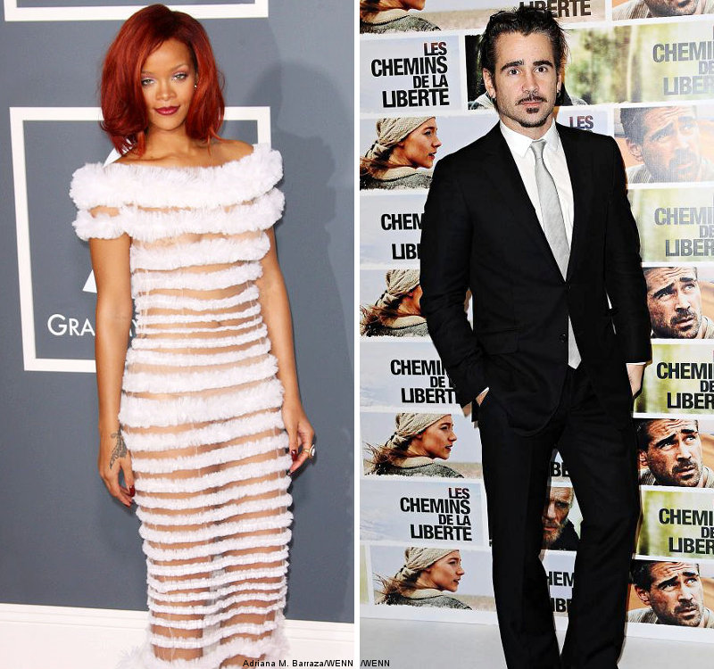 Laughing Off Dating Rumor, Rihanna Wants Colin Farrell's Number