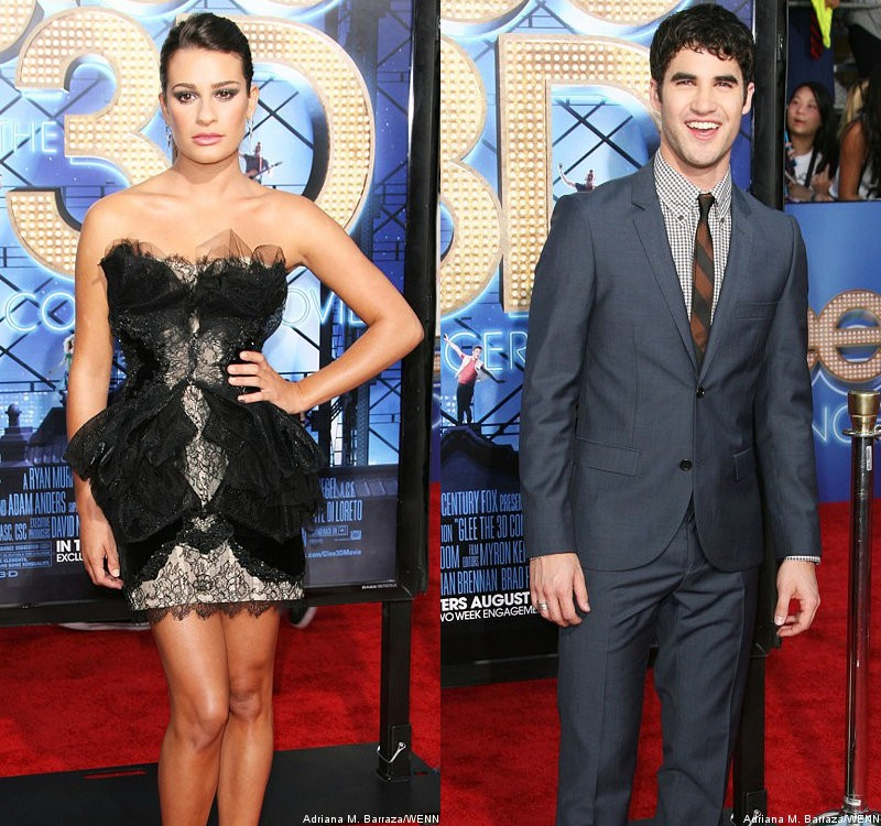 Lea Michele and Darren Criss Dazzle at 'Glee: The 3D Concert Movie' Premiere