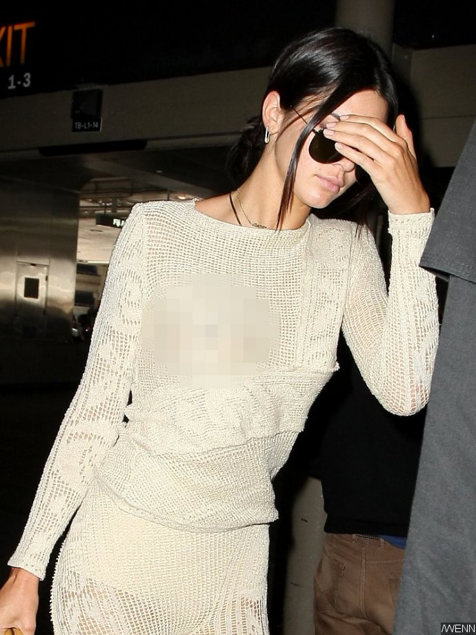 Photo: Kendall Jenner Flashes Nipple and Panties in See-Through Ensemble When Arriving at LAX