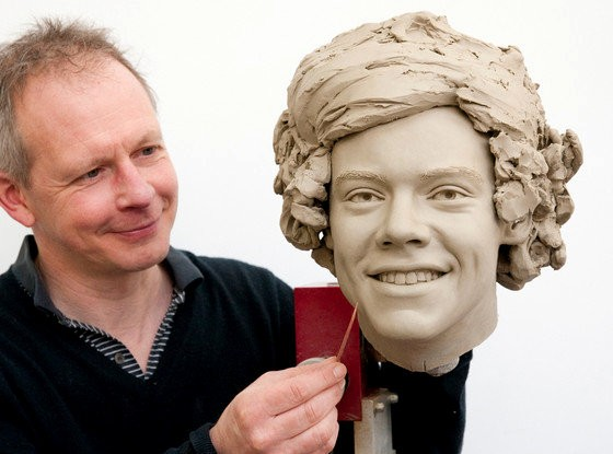 Pictures of One Direction's Clay Heads for Madam Tussauds Revealed