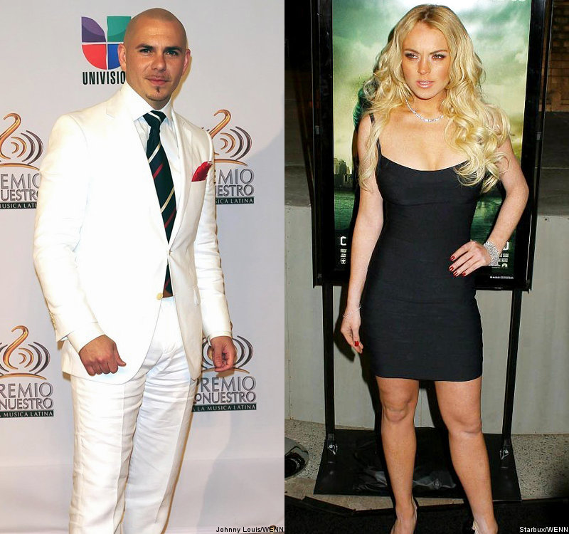 Pitbull Responds to Lindsay Lohan's Lawsuit by Inviting Her to MTV VMAs